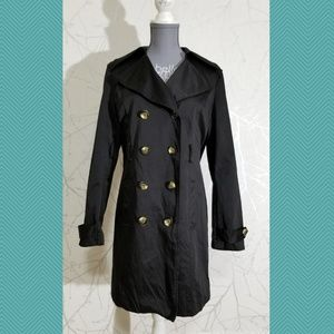 Cynthia Rowley Black Double Breasted Long Coat